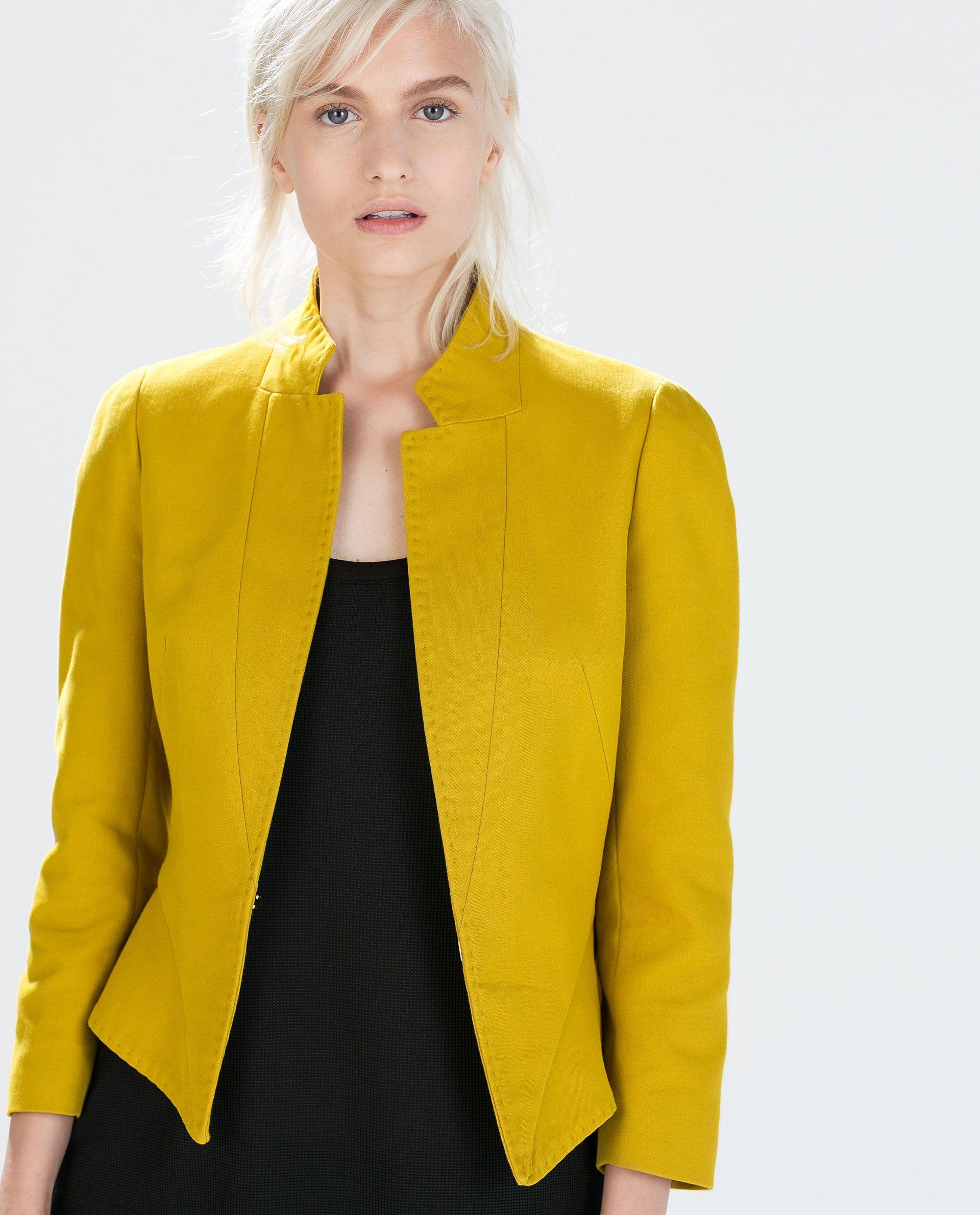 ZARA - WOMAN - PEPLUM BLAZER | costura | Pinterest | Peplum blazer ...