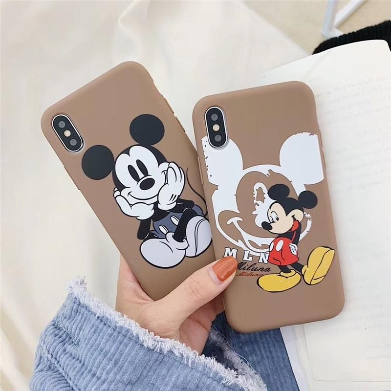 lovely Funny Minnie Mickey Mouse Cover Case For iPhone X