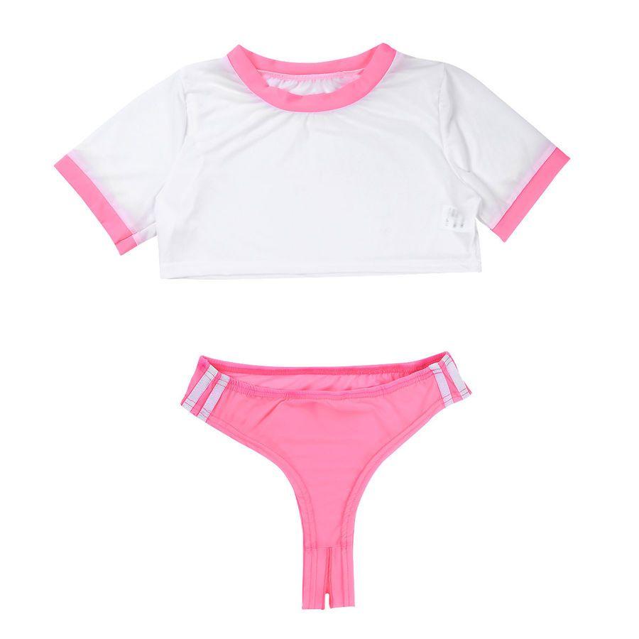 0557f95d607 Fancy Women School Girl Dress Lingerie Teddy Student Cosplay 2 Piece ...