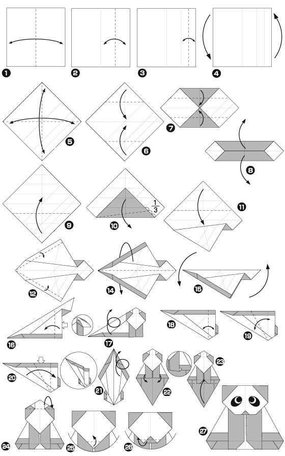 panda en origami