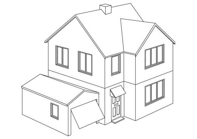 Hus Fargelegging For Barn 1 Dibujo De Casa Como Dibujar Una Casa Tipos De Casas