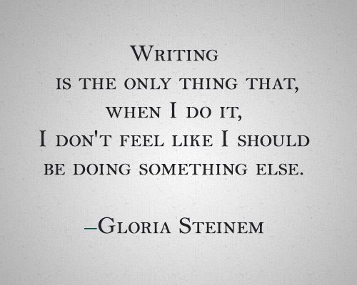 Thoughts On Taking Time To Write