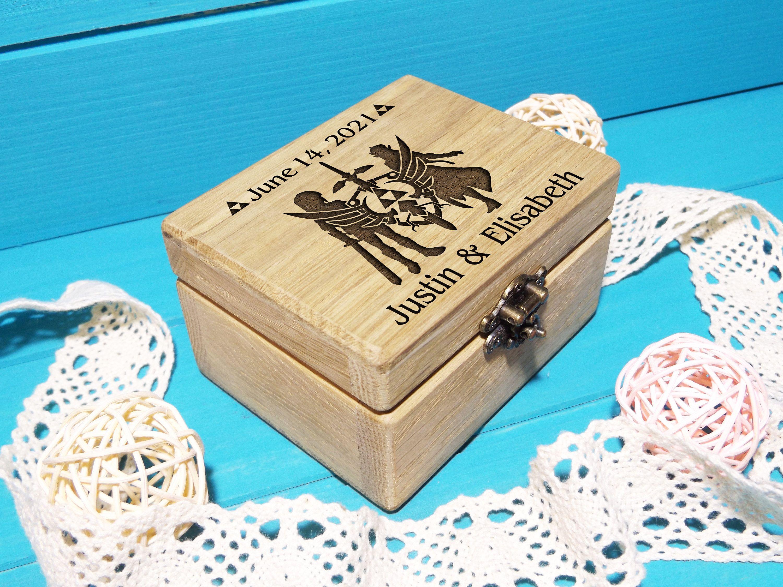 zelda wedding ring box laser engraved zelda wedding wedding