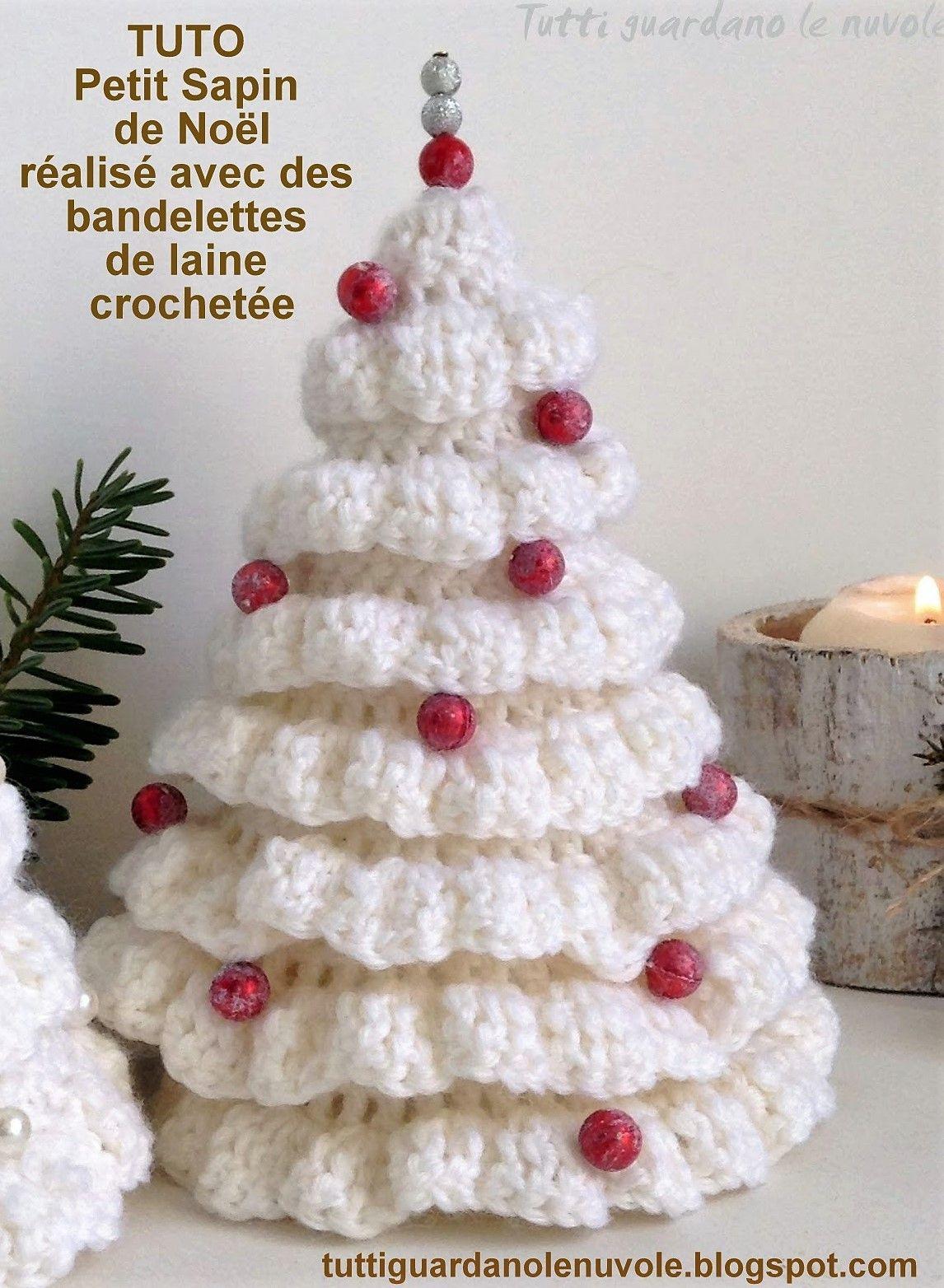 Modèles Petits sapins de Noël à faire au crochet | Petit sapin de