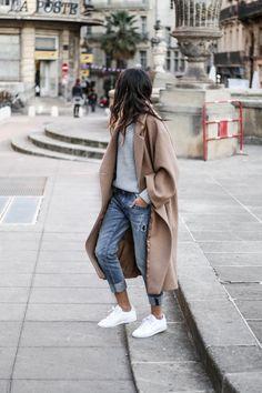 Oversize mantel braun