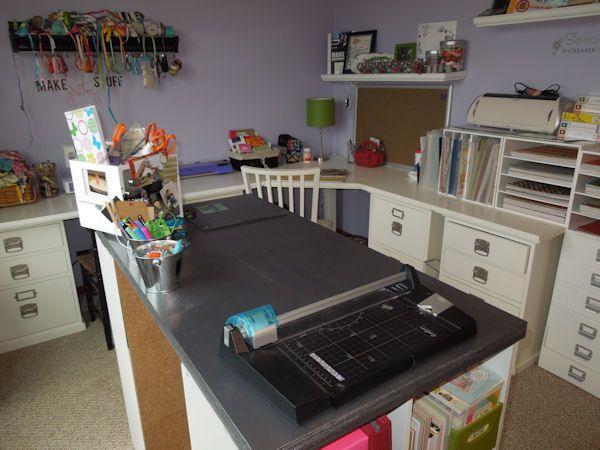L Shape Desk Craft Table Craft Room Office Dream Craft Room