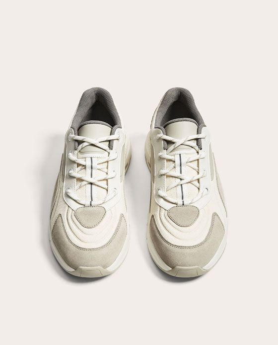 WHITE AND GREY SNEAKERS WITH THICK SOLES-NEW IN-MAN  b0399f7b4