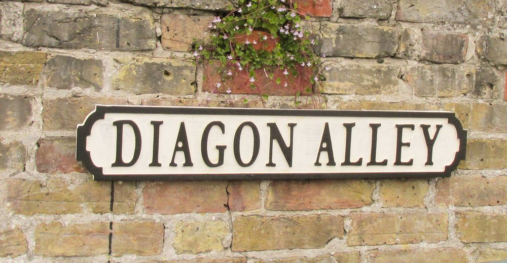 Diagon Alley Vintage Road Sign Wooden Sign Street Sign