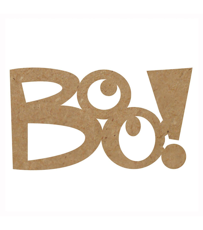 Fab Lab™ Unfinished Wood-Boo | Craft Wood Ideas | Pinterest ...