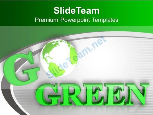 0413 Be Eco Friendly Save Environment Powerpoint Templates Ppt