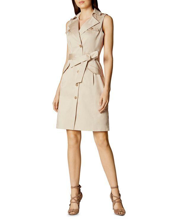 b729f9d0a Karen Millen Sleeveless Safari Dress