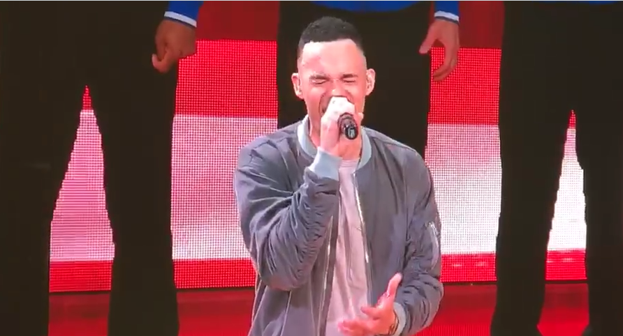 Tauren Wells Sings National Anthem At Rockets Playoff Game ...
