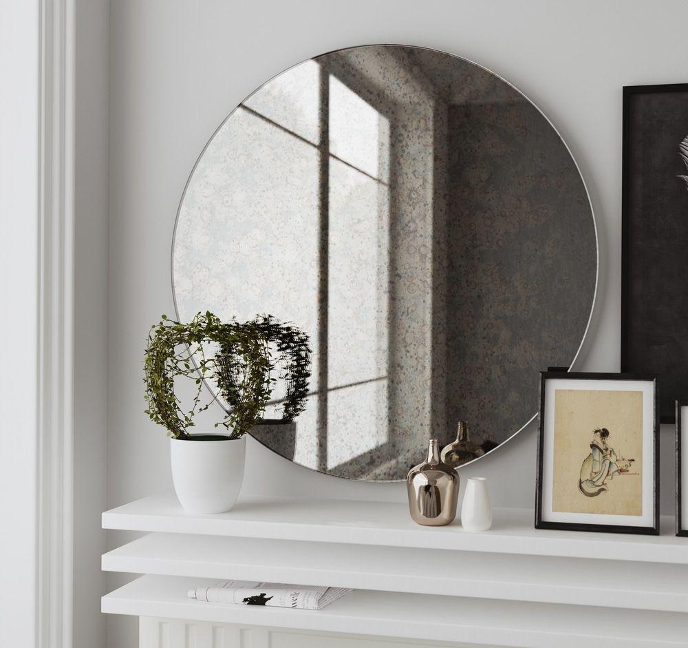 Large Round Frameless Wall Mirror Allcanwear
