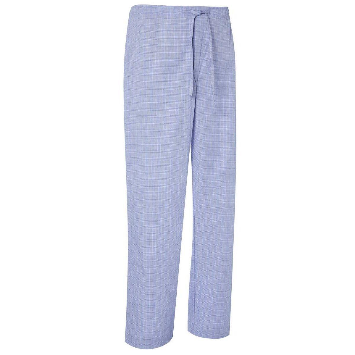 Derek Rose Felsted 3 Lounge Trousers - Blue | Blue Derek Rose Lounge Trousers | KJ Beckett