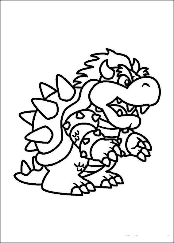 Mario Bross Ausmalbilder Malvorlagen Zeichnung Druckbare Nº 5