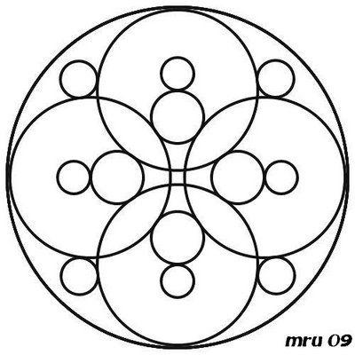 mandalas faciles - Google Search Mandalas/Vitrais Colorir
