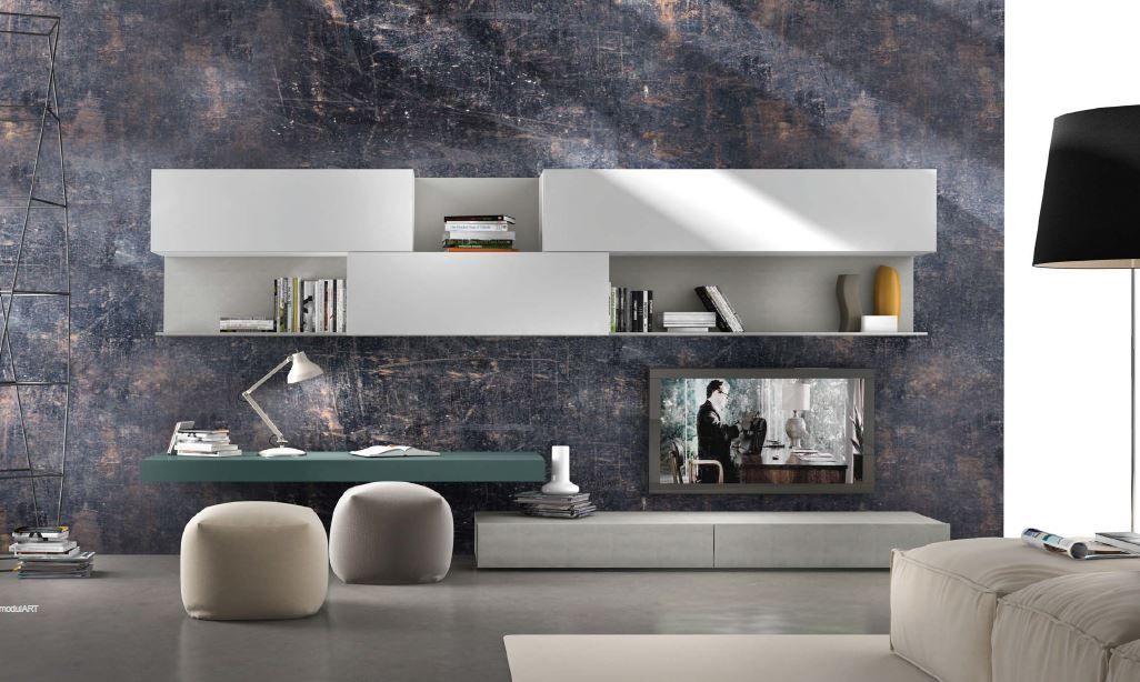 étagères de conception mur détagères fixation murale de tv systèmes de rangement mural intérieur de salon salons modernes montage tv unités
