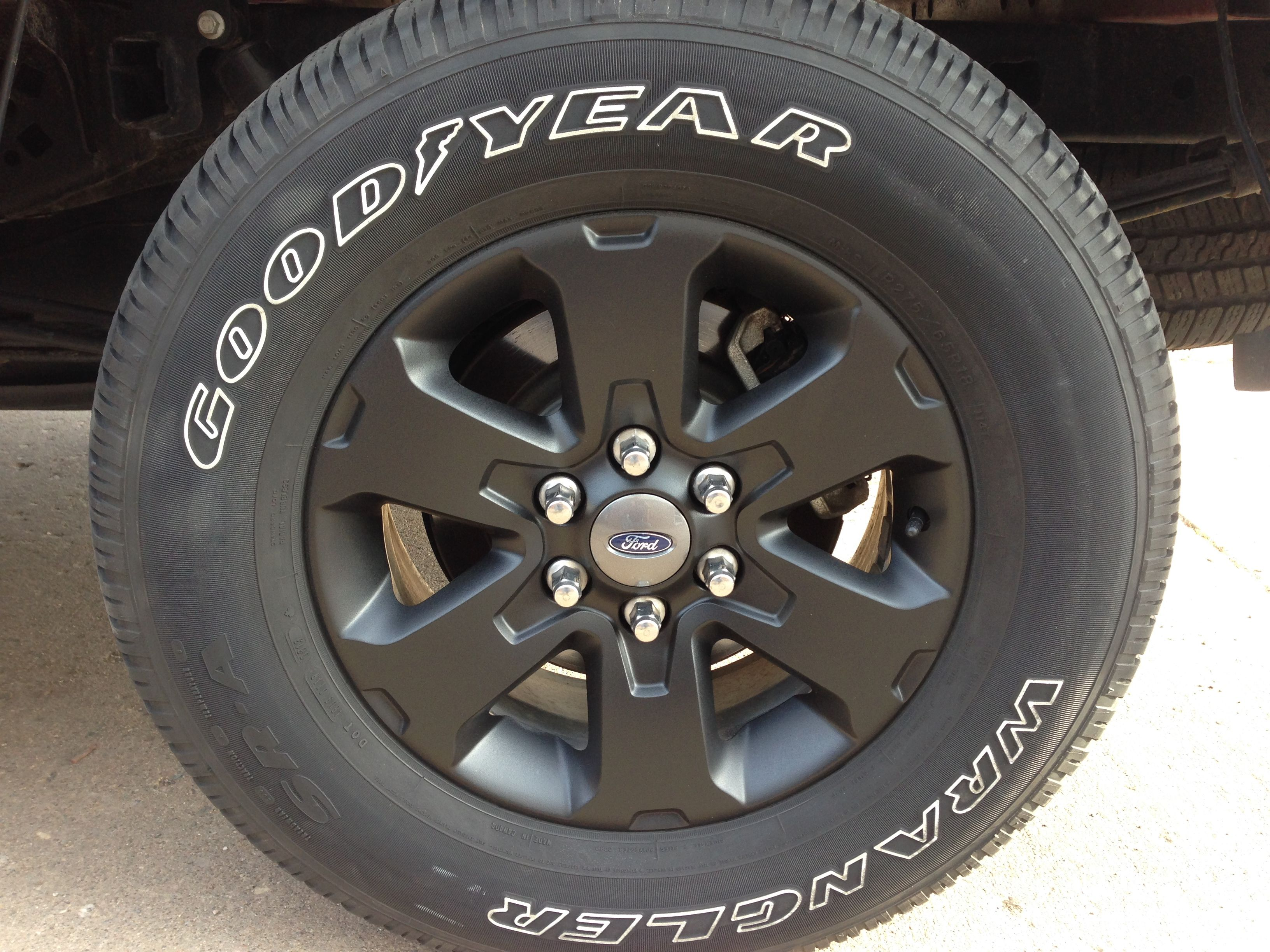 "Black Plasti Dip stock Fx4 18"" Alloy Rims Page 2"