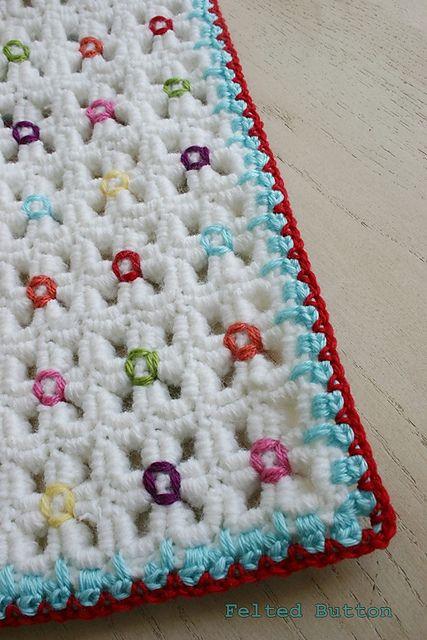 Crazy-Good Mat & Blanket pattern by Susan Carlson | Tejidos Crochet ...