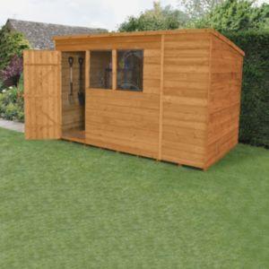 10x6 Forest Pent Overlap Wooden Shed Wooden Sheds Shed Garden Shed Diy