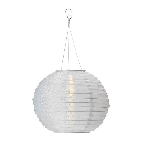 SOLVINDEN Solar powered pendant lamp IKEA No costs for electricity