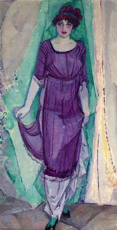 Standing woman by Jan Sluijters (1912). Oil on canvas. Collection Frans Hals Museum | De Hallen Haarlem.