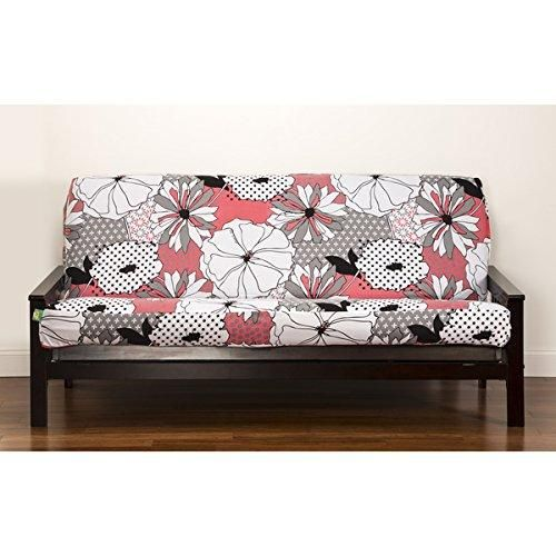 floral themed futon cover flowers patch work pattern adorable colorful   futon covers pink white and products floral themed futon cover flowers patch work pattern adorable      rh   pinterest co uk