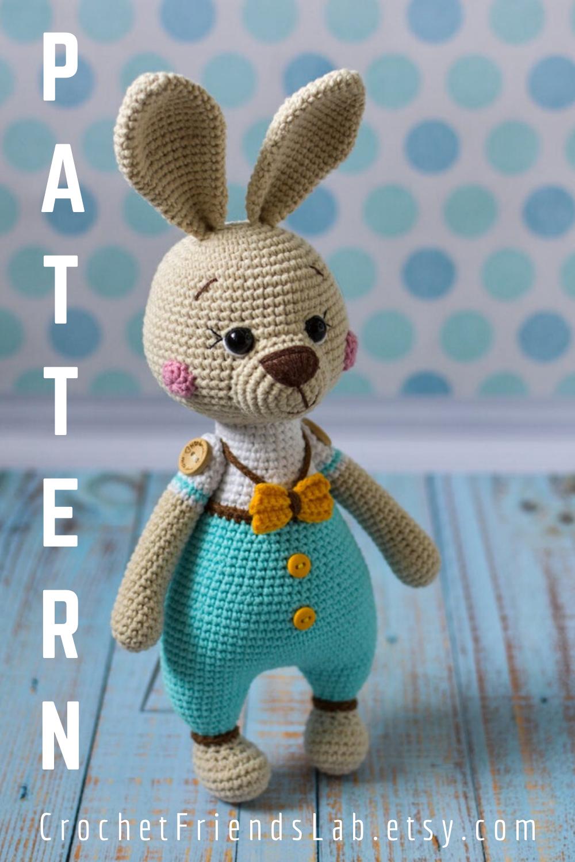 Crochet PATTERN Easter bunny Amigurumi toy Amigurumi Pattern ...