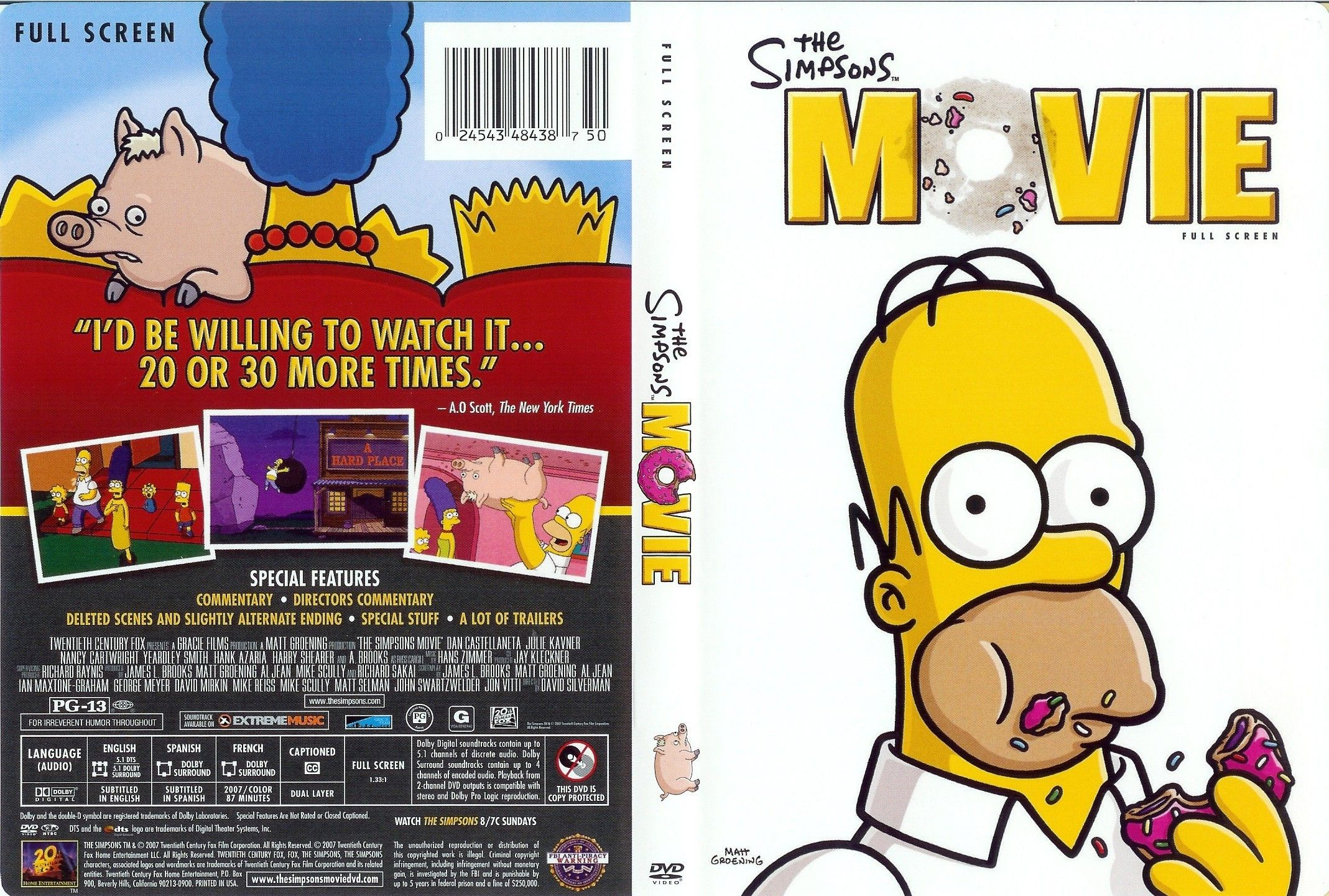 5 Stars The Simpsons Movie Movie M The Simpsons