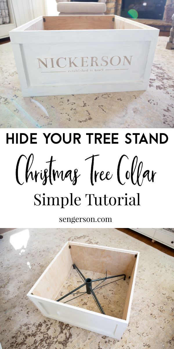 How to Make a Christmas Tree Collar (step-by-step