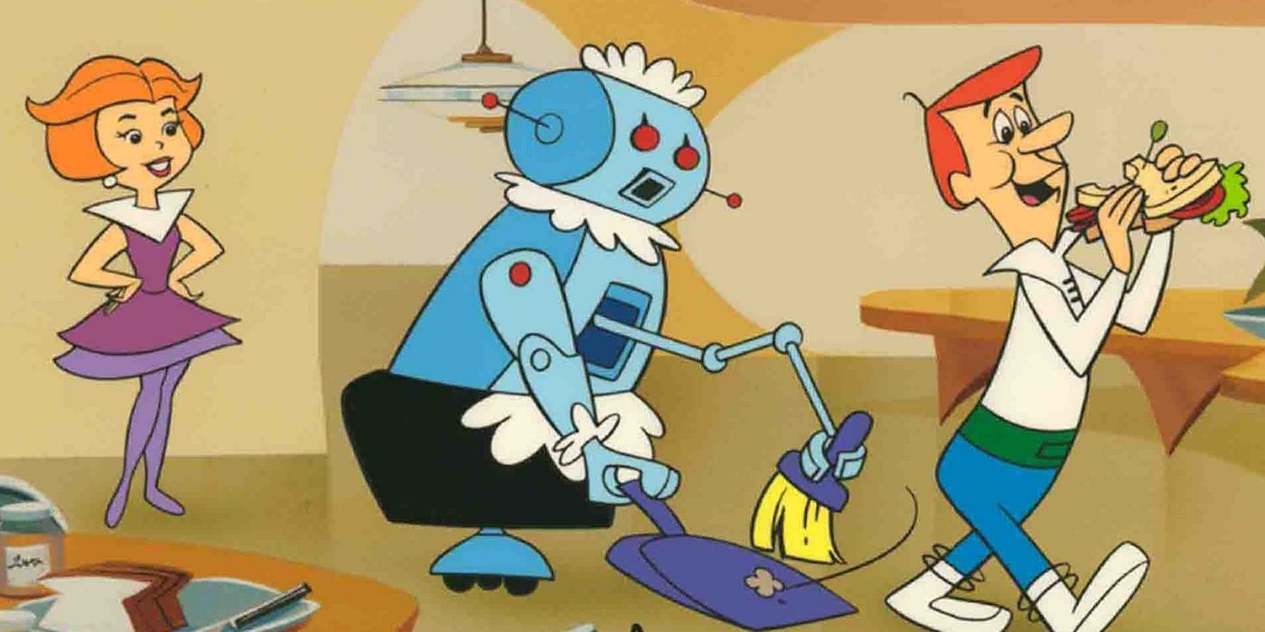 1962 Rosie the robot appears on The Jetsons, an animated TV program about a  family from the future. The iconic house maid becomes one of the best-k