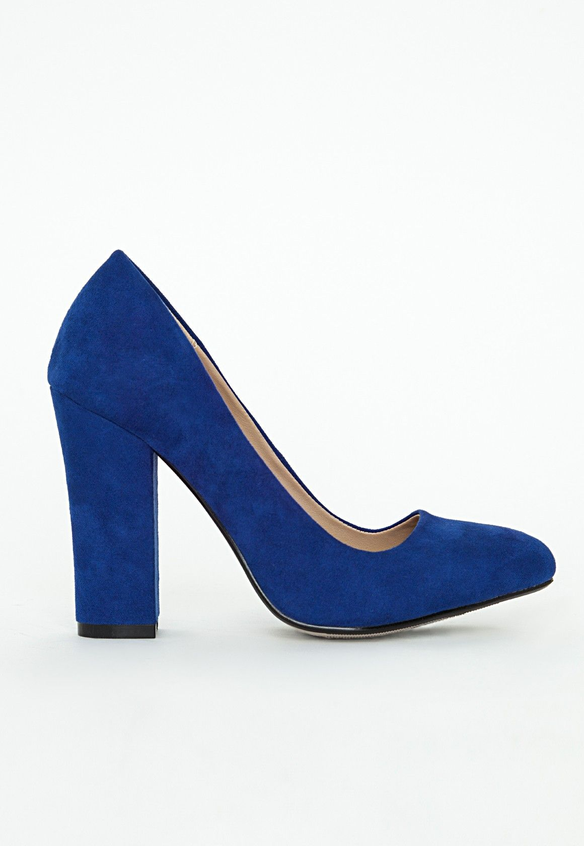 missguided block heel cobalt blue | Desirable Footwear | Pinterest ...