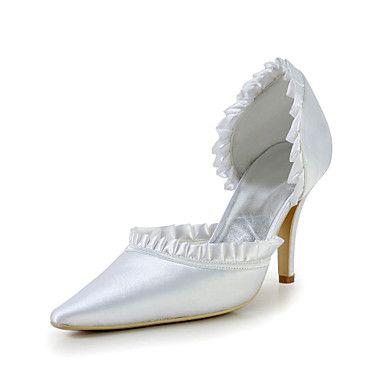 [$39.99] Women's Wedding Shoes Heels Heels Wedding Ivory/White