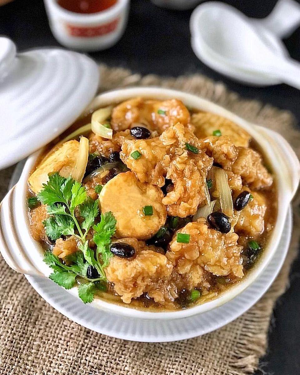 Cara Memasak Tahu Ayam Tausi Dan Resep Tahu Masak Tausi Lengkap Bahan Olahan Tofu Ayam Bumbu Tausi Serta Cara Membu Resep Masakan Asia Resep Masakan Resep Tahu