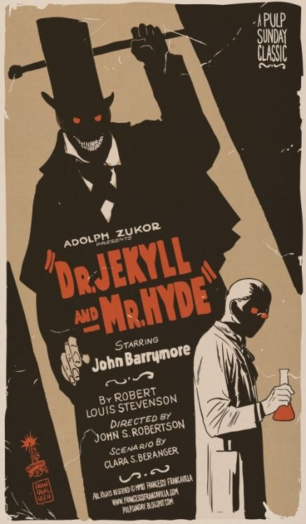 24x36 Dr Jekyll and Mr Hyde Vintage Movie Poster
