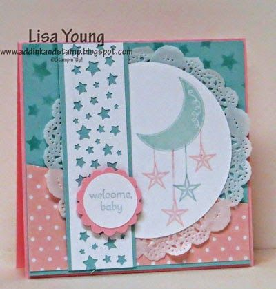 Lisa Young: Add Ink and Stamp – Baby Girl or Baby Boy? - 11/13/14 (SU - Stamps: Pictogram Punches, Petite Pairs. Star Border punch, Star Stencil)