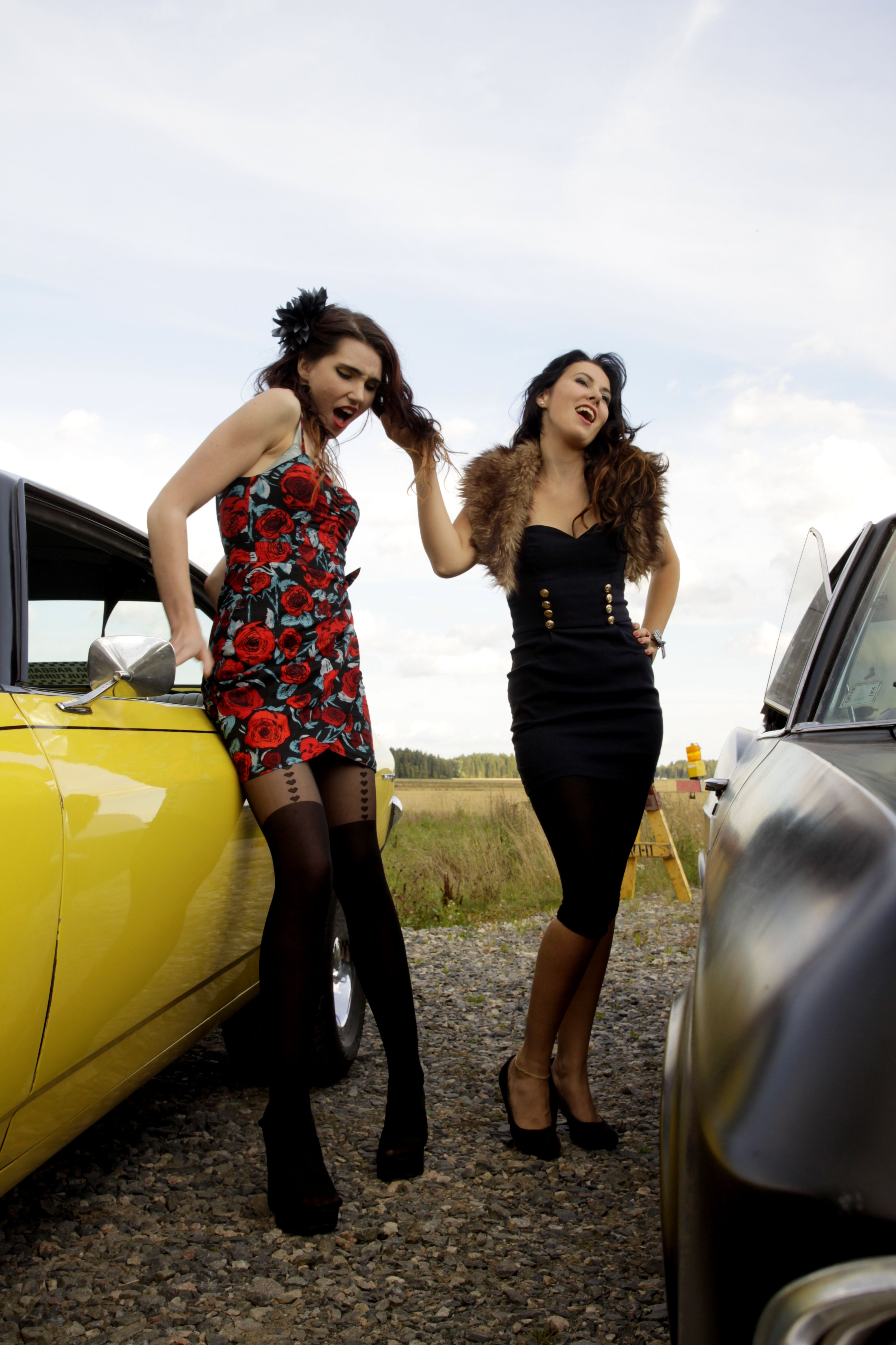 Catfight At The Race Cars And Pin Up Girls My Stuff Pinterest