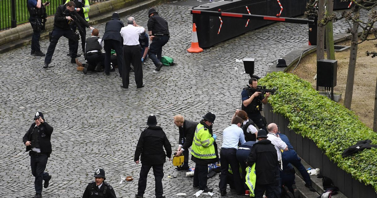 """Witnesses have described seeing bodies lying on the ground and bystanders """"running for their lives"""" after the suspected terror attack"""