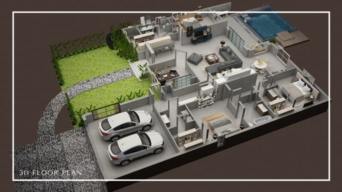 Surrayashabbir I Will Make 3d Floor Plan 2d Floorplan Rendering For 30 On Fiverr Com Small House Design Plans Model House Plan Home Building Design