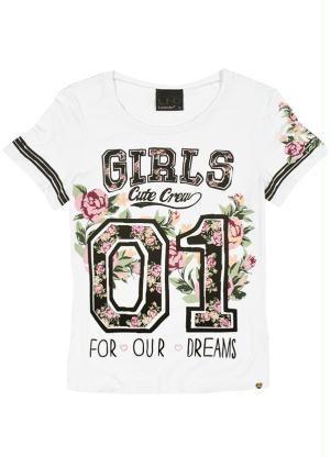 T-Shirt Feminina Lunender Hits Branco - Posthaus Mais 2d2523e95ca