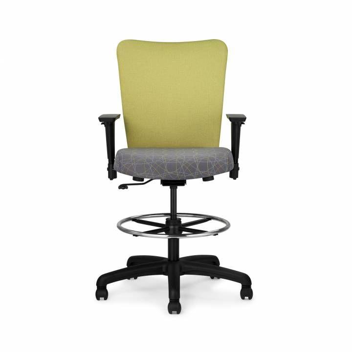 Inertia Upholstered Stool | Allseating  sc 1 st  Pinterest & Inertia Upholstered Stool | Allseating | 10 w 15 Desk Chair ...