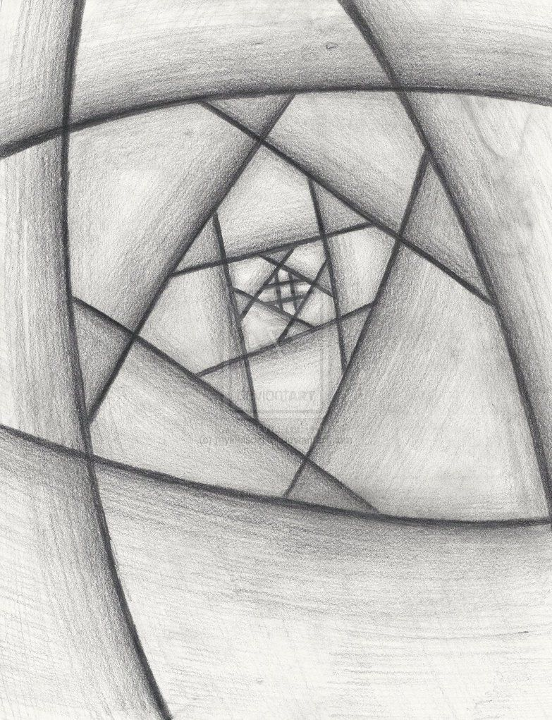 Easy Abstract In 2019 Abstract Pencil Drawings Beginner