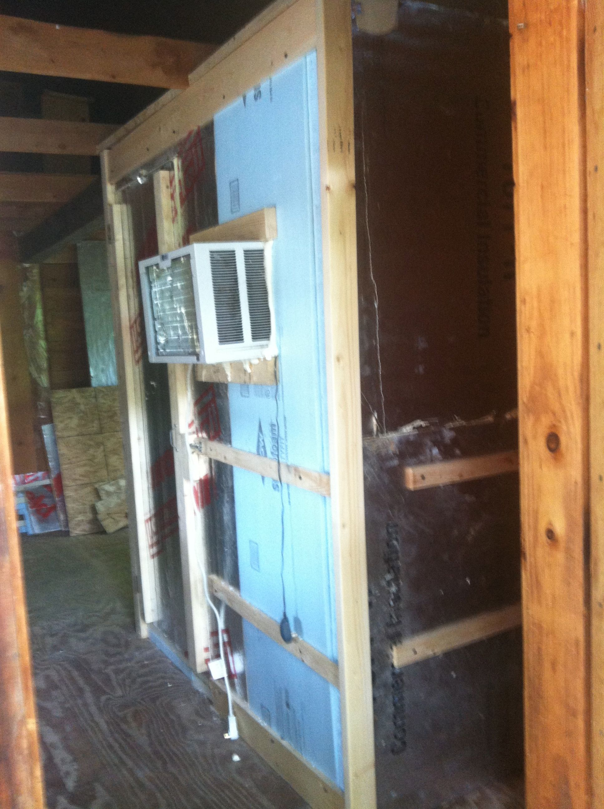 Diy Walk In Freezer All Said And Done For 1000 Walk In Freezer Diy Overhead Garage Storage Garage Screen Door