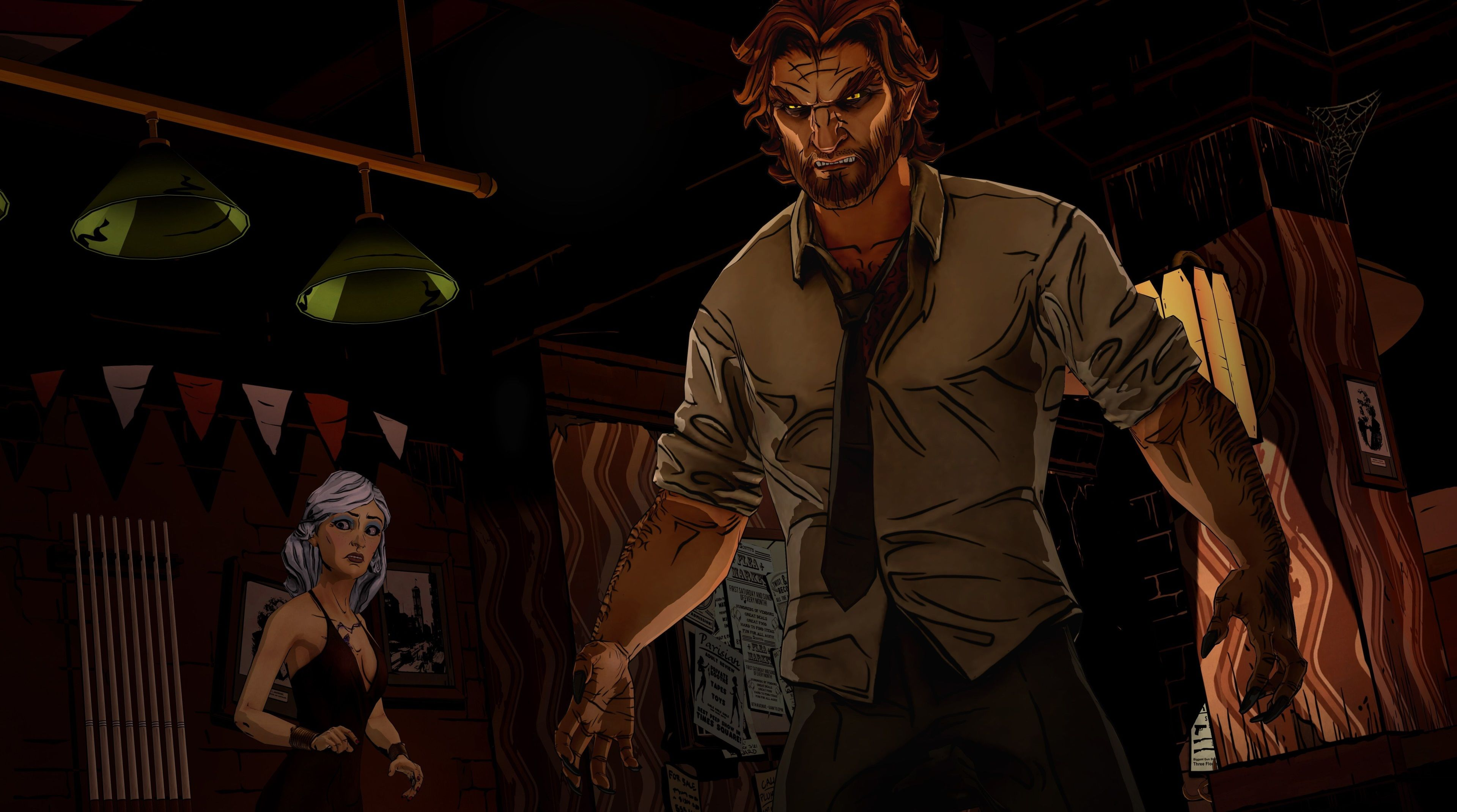 3840x2141 The Wolf Among Us 4k Hd Wallpaper Picture The Wolf Among Us Adventure Games Wolf