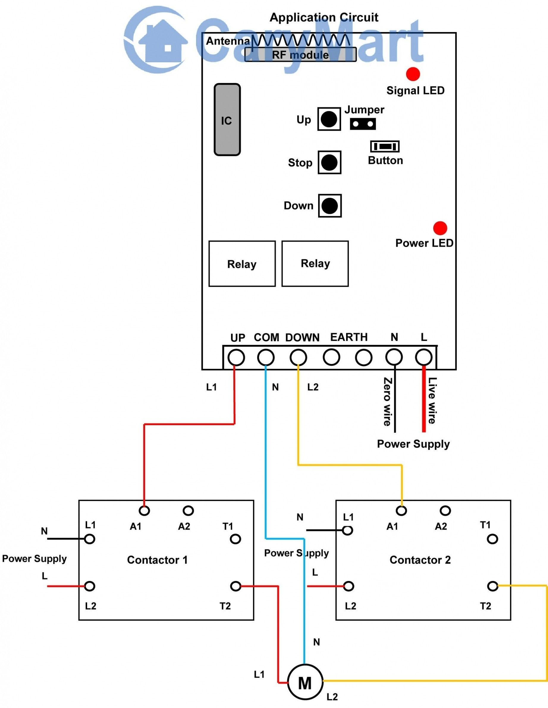Contactor Wiring Diagrams from i.pinimg.com