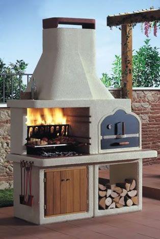 Barbacoas prefabricadas parrilla y - Outdoor kitchen designs with pizza oven ...