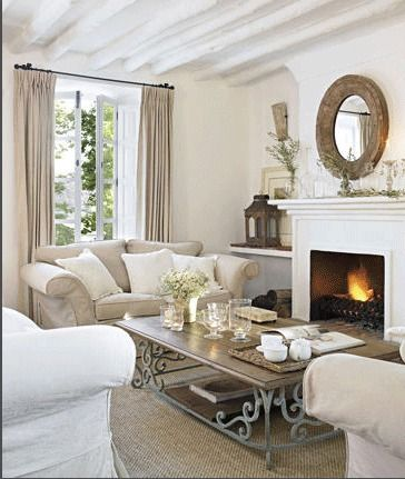 I fell in love with this gorgeous room the moment I saw it on  The Paper Mulberry . Especially the beautiful and unusual coffee table. I jus...
