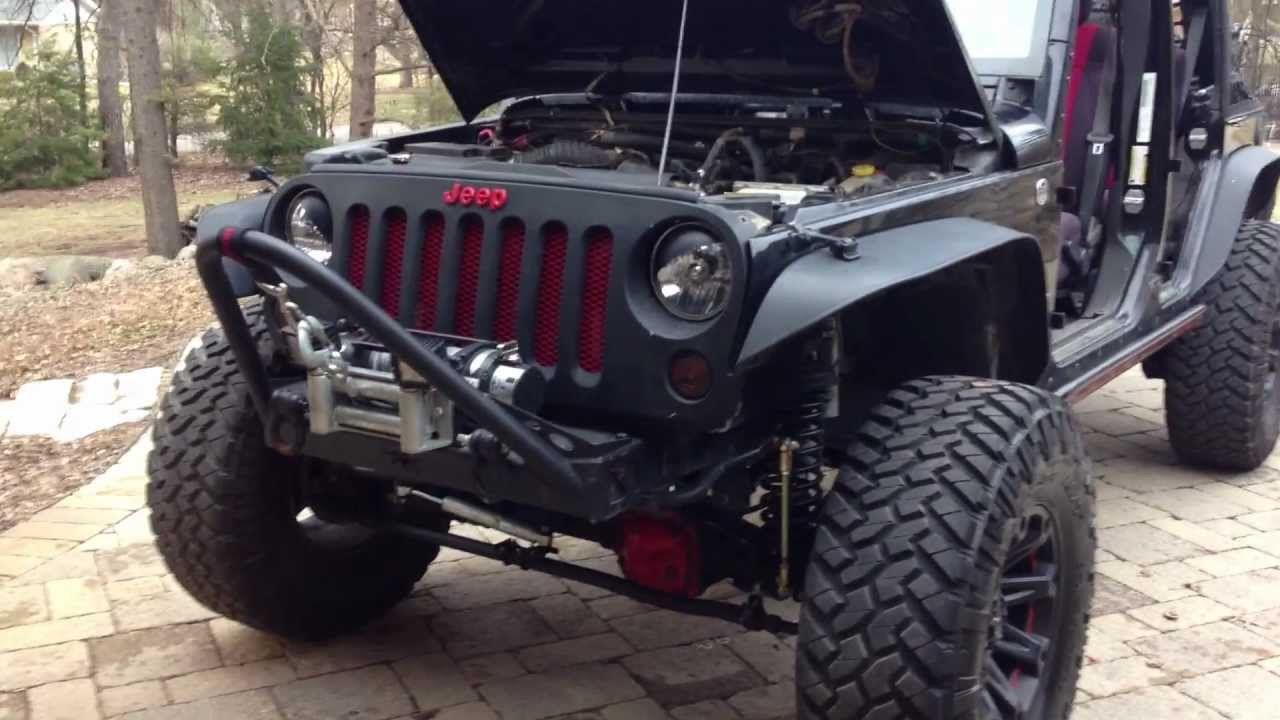 07-13 jeep jk grill mod installation   wheels   pinterest   jeep