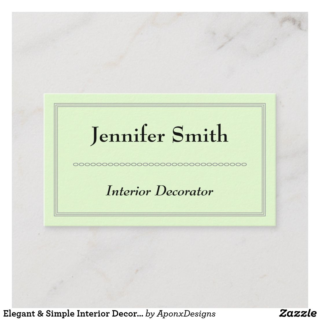 Elegant  simple interior decorator business card also nice looking rh ar pinterest