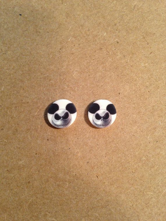 Hey, I found this really awesome Etsy listing at https://www.etsy.com/listing/173847041/jack-skellington-earrings-nightmare